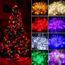 10M 100 LED Bulbs Fairy String Lights Christmas Xmas Tree Party Decor Waterproof