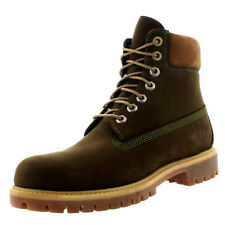 Mens Timberland 6 Inch Premium Waterproof Leather Dark Olive Ankle Boots UK 7-12