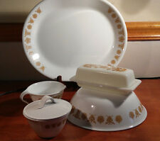 CORELLE Butterfly Gold Lot! Platter Veg Bowl Sugar Creamer Butter EX COND