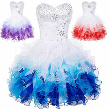 Sexy Beaded Short Dresses Bridal Pageant Gown Evening Prom Wedding Formal Party