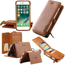 FLOVEME Wallet 18 Card Slots Stand Leather Removable Case For iPhone 8 7 6s Plus