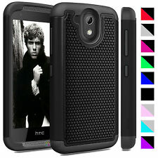 Hybrid Rugged Rubber Matte Impact Protective Hard Cover Case for HTC Desire 526G