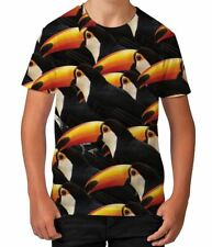 Toucans Birds Wildlife Brazil Wild Animals Flying Boys Child T Shirt Ages 3-12