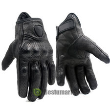 Motorcycle Bicycle Riding Racing Bike Protective Armor Short Leather Gloves MESH