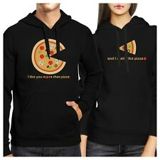 I Like You More Than Pizza Couple Hoodies Valentines Day Gift Idea