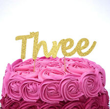3rd Birthday Cake Topper - Number Three Party Cake Topper Childrens Party Decor