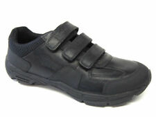 Clarks Bootleg Air Humber Boys Black Touch Fastener School Shoes