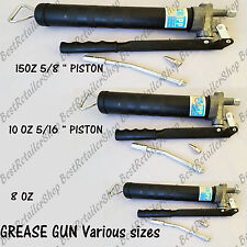 NEW Manual Hand Operated Pistol Grease Gun Solid 8OZ, 10OZ, 15OZ Workshop Garage