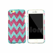 Blue/Rose Crystal Bling Case Cover For iPhone 6 7 Plus Made w/ SWAROVSKI ELEMENS