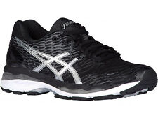 NEW WOMENS ASICS GEL-NIMBUS 18 RUNNING SHOES TRAINERS BLACK / SILVER / CARBON