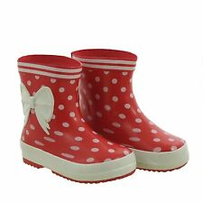 KIDS GUMBOOTS -RUBY GUMBOOTS-RED AND WHITE