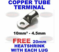 10mm²-4.5mm Copper Tube Terminals Battery Welding Cable Lug Ring Crimp Terminal