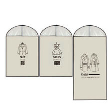 Suit Dress Coat Garment Storage Travel- Carrier Bag Cover Protector Men/ Women