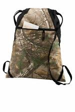 Real Tree Outdoor Cinch Pack Hunting & Camo Lovers Travel Plain or Embroidered