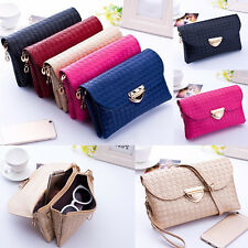 Women Handbag Weave Pattern Wallet Shoulder Messenger Bag Crossbody Bags Purse