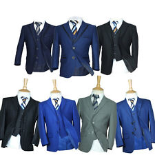 Page Boy Suits Premium Formal Boys Wedding Suit Grey Navy Blue Black Suit