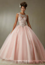 Quinceanera Dress Crystal Ball Gown Beaded Cocktail Party Prom Dresses Custom