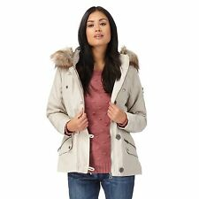 Mantaray Womens Cream Faux Fur Parka Jacket From Debenhams