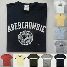 Abercrombie & Fitch T SHIRT ALL SIZES NWT gray yellow blue red white NEW 2016