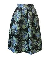 Womens BNWT Floral Pleated MIDI SKIRT With 2 side Pockets Size 8-18