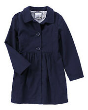 NWT Gymboree Uniform Shop Coat Girls 4 5/6 7/8 9/10 Navy Trench Jacket