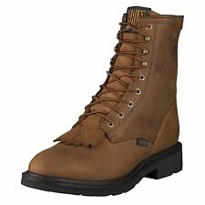"Ariat Mens Cascade 8"" Cowboy Western Work Boot Aged Bark-10002418-NIB"