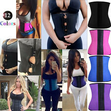 Latex Rubber Waist Trainer Cincher Underbust Corset Belt Body Shaper Shapewear@@