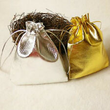 50 Pcs Wedding Party Favor Candy Bag Jewelry Packing Gift Bags Pouch Gold Silver