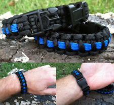 550 Paracord Survival Bracelet Covert Band universal handcuff key Thin Blue Line