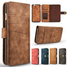 Flip Magnetic Remove Leather Wallet Case Full Cover Pouch for iPhone 6/6s/7/Plus