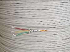 Teflon Silver Plated Ptfe 20 awg Gauge Wire 3 Conductor Polyimide Film 10 FT