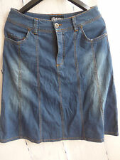 Chillytime Stretch Jeans Skirt Size 38 - 44 Boot skirt NEW