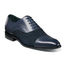 Stacy Adams mens shoes Sedgwick Cap Toe Oxford Suede Leather Navy  25069-410