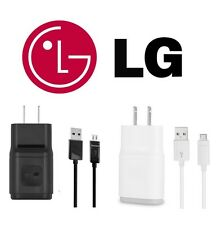 NEW ORIGINAL OEM LG G2 G3 G4 FLEX 1.8 AMP WALL CHARGER MICRO USB DATA SYNC CABLE