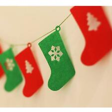 Christmas Felt Stocking Hanging Sock Bunting Garland Xmas Party DIY Decorations