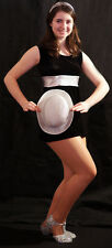 SWEET CHARITY/1960's Black & silver SHIFT Dress Dance Costume all ages/sizes