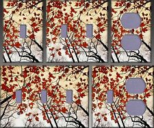 Red Maple Leaves Wall Decor Light Switch Plate Cover