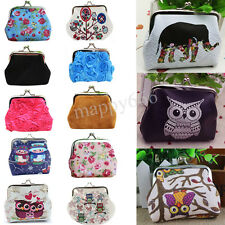 Womens Owl Wallet Card Holder Coin Purse Clutch Leather Handbag Hasp Tote Bags