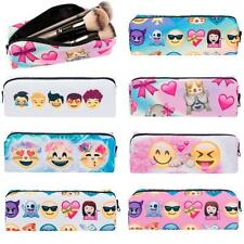 Portable Makeup Cosmetic Bags Brush Pen Pencil Case Organizer Zipper Pouch Box