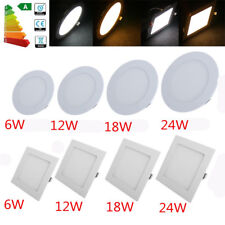 6W 12W 18W 24W LED Recessed Ceiling Flat Panel Down Light Ultra Slim Bulb Lamp