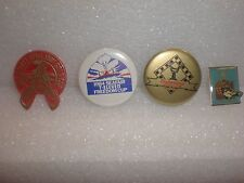USED 1981, 84, 85 & 87 SEATTLE SEAFAIR HYDRO SKIPPER PIN HYDROPLANE BUTTONS