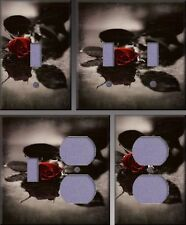 Red Gothic Rose Wall Decor Light Switch Plate Cover