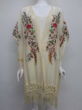 NWT Johnny Was Embroidered Kimono with Fringe - M / L - JW17911016
