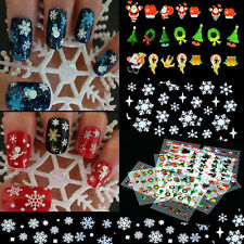 12 Sheet Christmas Snowflake Nail Art Sticker Decal Tips Festival Decoration