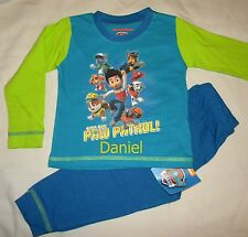 Personalised Paw Patrol pyjamas age 1 - 4 years embroidered with name