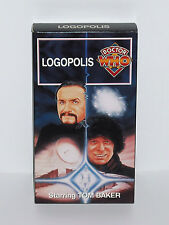 "DOCTOR WHO VHS ""LOGOPOLIS"" 4TH DOCTOR TOM BAKER LAST STORY COLLECTIBLE MASTER dr"