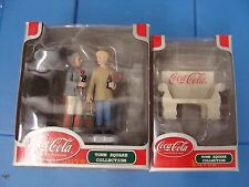 Lot of 2   COCA-COLA TOWN SQUARE COLLECTION Ladies sharing a coke and bench