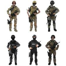 """1:6 Scale Flexible Military Army Police Soldier 12"""" Action Figures fit HOT TOYS"""