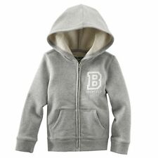 OshKosh B'Gosh 'B Yourself' Hoodie Jacket Gray Toddler Girls Size 3T 4T New NWT
