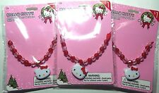 Hello Kitty Beaded Ribbon Necklace with Charm Set of 3